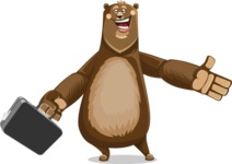Bear Cartoon Vector Character AKA Barry Bearhug - Briefcase 1