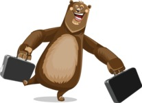 Bear Cartoon Vector Character AKA Barry Bearhug - Briefcase 3