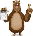 Bear Cartoon Vector Character AKA Barry Bearhug - Calculator