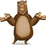 Bear Cartoon Vector Character AKA Barry Bearhug - Confused