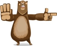 Bear Cartoon Vector Character AKA Barry Bearhug - Direct Attention 2
