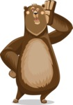 Bear Cartoon Vector Character AKA Barry Bearhug - Duckface