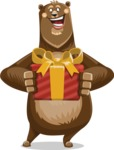 Bear Cartoon Vector Character AKA Barry Bearhug - Gift