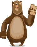 Bear Cartoon Vector Character AKA Barry Bearhug - Goodbye