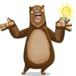 Bear Cartoon Vector Character AKA Barry Bearhug - Idea 1