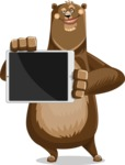 Bear Cartoon Vector Character AKA Barry Bearhug - iPad 2