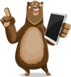 Bear Cartoon Vector Character AKA Barry Bearhug - iPad 3