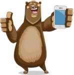 Bear Cartoon Vector Character AKA Barry Bearhug - iPhone