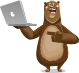 Bear Cartoon Vector Character AKA Barry Bearhug - Laptop 1