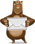 Bear Cartoon Vector Character AKA Barry Bearhug - Letter