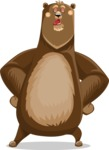 Bear Cartoon Vector Character AKA Barry Bearhug - Making Face