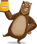 Bear Cartoon Vector Character AKA Barry Bearhug - Meat