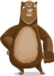 Bear Cartoon Vector Character AKA Barry Bearhug - Normal