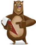 Bear Cartoon Vector Character AKA Barry Bearhug - Notepad 3