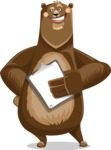 Bear Cartoon Vector Character AKA Barry Bearhug - Notepad 4