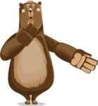 Bear Cartoon Vector Character AKA Barry Bearhug - Oops