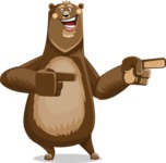 Bear Cartoon Vector Character AKA Barry Bearhug - Point 2