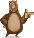 Bear Cartoon Vector Character AKA Barry Bearhug - Point