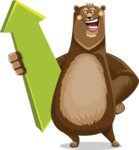 Bear Cartoon Vector Character AKA Barry Bearhug - Pointer 1