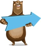 Bear Cartoon Vector Character AKA Barry Bearhug - Pointer 2
