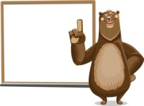Bear Cartoon Vector Character AKA Barry Bearhug - Presentation 3