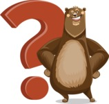 Bear Cartoon Vector Character AKA Barry Bearhug - Question
