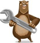 Bear Cartoon Vector Character AKA Barry Bearhug - Repair