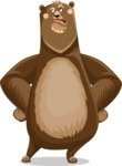 Bear Cartoon Vector Character AKA Barry Bearhug - Roll Eyes