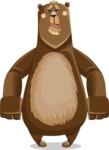 Bear Cartoon Vector Character AKA Barry Bearhug - Sad