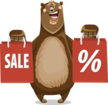 Bear Cartoon Vector Character AKA Barry Bearhug - Sale 2