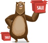 Bear Cartoon Vector Character AKA Barry Bearhug - Sale