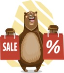 Bear Cartoon Vector Character AKA Barry Bearhug - Shape 10