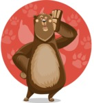 Bear Cartoon Vector Character AKA Barry Bearhug - Shape 11