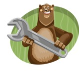 Bear Cartoon Vector Character AKA Barry Bearhug - Shape 4