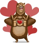Bear Cartoon Vector Character AKA Barry Bearhug - Shape 5