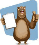 Bear Cartoon Vector Character AKA Barry Bearhug - Shape 6