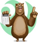 Bear Cartoon Vector Character AKA Barry Bearhug - Shape 7