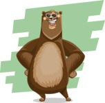Bear Cartoon Vector Character AKA Barry Bearhug - Shape 9
