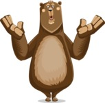 Bear Cartoon Vector Character AKA Barry Bearhug - Shocked