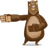 Bear Cartoon Vector Character AKA Barry Bearhug - Show 2