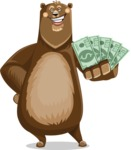 Bear Cartoon Vector Character AKA Barry Bearhug - Show me the Money