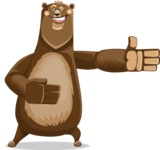 Bear Cartoon Vector Character AKA Barry Bearhug - Show