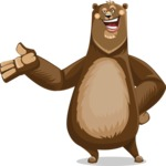 Bear Cartoon Vector Character AKA Barry Bearhug - Showcase 2