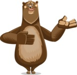 Bear Cartoon Vector Character AKA Barry Bearhug - Showcase