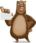 Bear Cartoon Vector Character AKA Barry Bearhug - Sign 1