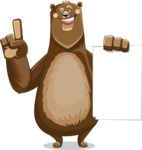 Bear Cartoon Vector Character AKA Barry Bearhug - Sign 2
