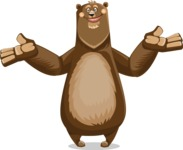 Bear Cartoon Vector Character AKA Barry Bearhug - Sorry