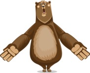 Bear Cartoon Vector Character AKA Barry Bearhug - Stunned