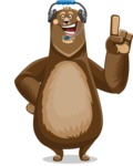 Bear Cartoon Vector Character AKA Barry Bearhug - Support 2