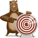 Bear Cartoon Vector Character AKA Barry Bearhug - Target